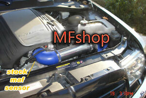 Blue For 2005-2010 Chrysler 300 300C 5.7L 6.1L SRT8 V8 Air Intake + Filter