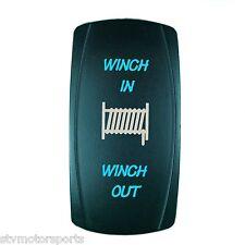 BLUE LED MOMENTARY WINCH POWER IN/OUT ROCKER SWITCH 4WD 4X4 UTV WATERPROOF