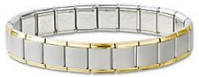 Wholesale Lot 24 Italian Charm Bracelet Silver Stainless Steel Gold Plated 13 mm