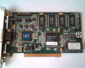 PCI Video card S3 Vision968 968 2MB V2.05.08 MPVXP0010X NumberNine PC00BPZ0-3 #9
