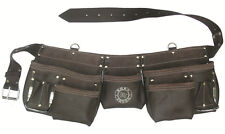 11 Pocket Oil Tanned Leather Tool Pouch Bag Belt / Tool Rig Apron