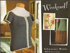 Mission Falls Knitting Pattern Book Weekend 8 Womens Sweaters Tops Jackets
