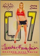 2012 BENCHWARMER DAIZY DUKEZ DIXIE AUTO: HEATHER RENE SMITH #4/5 AUTOGRAPH CJ-7