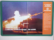 6/1990 PUB AEROSPATIALE MISSILE EXOCET TACTICAL WEAPON ORIGINAL FRENCH AD