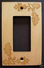 Laser Engrave Fall Oak Leaf Rocker Gfi Deco Plate Cover