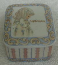 1999 Precious Moments Enesco September Trinket Box