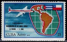SELLOS AVIACION 1972 A-253 LA HABANA -  S. CHILE 1v.