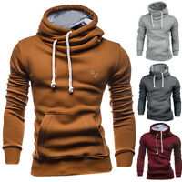 Fashion Men's Autumn Winter Casual Hooded Pocket Pullover Outwear Tops Blouse