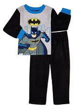 BATMAN DC Basic Fleece Pajamas Sleepwear Set NWT Toddler's Size 2T, 3T, 4T or 5T