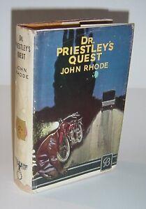 John Rhode - Dr. Priestley's Quest - UK 1/3 Hardback 1935 with Original Jacket