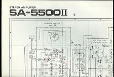Original Factory Pioneer SA-5500II S AM/FM Stereo Amplifier Schematic Diagram