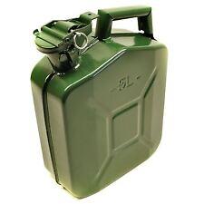 combustible metálico puede gasolina diesel tanque líquido verde Ejército 5L