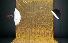 5X6.5FT Sparkly Golden Sequin Backdrop Wedding Booth,Photography Background