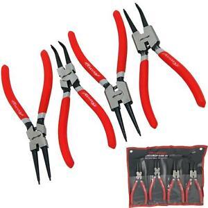 Neilsen 4pc Circlip Snap Ring Pliers Internal External Bent Straight Plier Set
