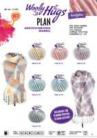 Woolly Hugs Karo Muster mit  PLAN - Multicolor stricken oder häkeln 100 g