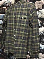 Polo Ralph Lauren Green and Yellow Plaid Mens Button Up Long Sleeve Shirt L