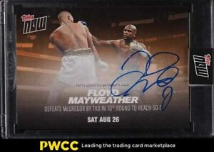 2017 Topps NOW Boxing Floyd Mayweather AUTO 3/5 #MM4D
