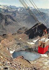 B53525 Le Lac d'Oncet et le telepherique cable train Pic du Midi de Bigo  france