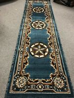 Texas Star Western Lodge Rustic Turquoise Area Rug- QUICK SHIPPING!!