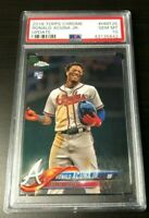 2018 RONALD ACUNA JR TOPPS CHROME UPDATE - PSA 10 GEM MT - RC ROOKIE CARD
