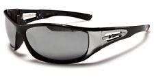 Sunglasses New Sport Designer Shades Wraps Xloop Men Women Black Silver XL379B