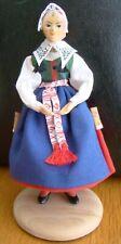 Swedish Dalarna Wooden vintage folk costume Als Dalarna girl Doll Dockan Sweden