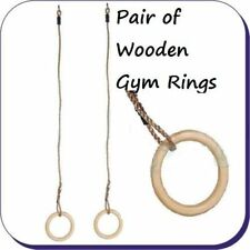Wooden Gymnastic Rings for CLIMBING FRAME NEW GARDEN FUN FREE POSTAGE