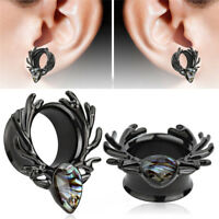 Stainless Steel  Deer Screw Ear Gauges Flesh Tunnels Plugs Stretchers ,Expa P0CA