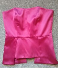 Events Collection Strapless Pin Up Corset Bustier Top Dark Pink - Cocktail  XS 6