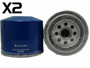 2X Oil Filter fits Z142 HOLDENPIAZZA YB 4ZC1-T2.0L 4CYL Pet 1986-88