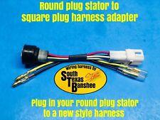 Yamaha Banshee stator adapter, converts round plug to square plug