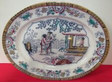 19Th Century Bates & Walker Japanned English Platter In Luster