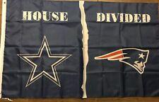 Dallas Cowboys New England Patriots House Divided Flag 3x5 Banner Nfl Football