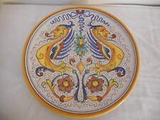 """Peccetti Deruta Italy Raffaellesco Dragon 12.5"""" Wall Plate Charger Platter"""