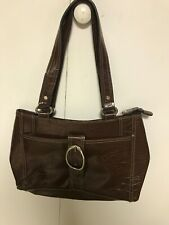 Liz & Co Dark Brown Lizard Skin Texture Handbag New