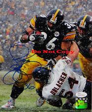 Jerome Bettis Signed Steelers 8x10 Photo Running Over Urlacher Reprint