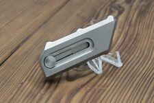 "Chaves CHUB Knife Tumbled Titanium (1"" Utility Blade)"