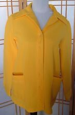 Womens old school Montgomery Ward Vintage Button Down Blouse Yellow polyester