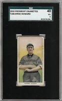 Rare 1909-11 T206 Ernie Howard Piedmont 350 Southern League SGC 40 / 3 VG