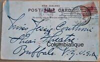 New Zealand San Fransisco CA Jessie Couthoui Buffalo NY 1901 Xmas Postcard