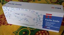 Telefono Cordless TIM FACILE SMILE Rosso Bianco con Vivavoce