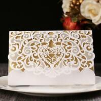 50pcs Laser Cut Wedding Invitations Engagement Invitation Card Envelope Seals