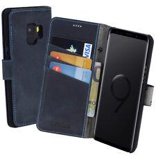 Samsung Galaxy S9 Tasche Book Hülle Schutzhülle Cover Wallet Case in Pebble Blue