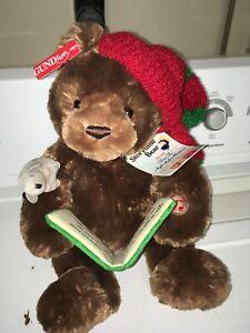 Gund Storytime Bear,teddy bear,Twas Night Before Christmas, head moves, NWT,2002