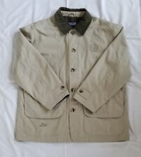 Mens Size L (42-44 Reg) Tan Lands' End Canvas Barn Coat Jaguar Masters Jacket