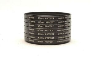@ Ship in 24 Hours! @ Discount! @ Canon 67mm Protect Lens Filter Lot of 7 Set