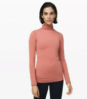 NWT Lululemon Yin Vibes Turtleneck Copper Clay Top Size 4