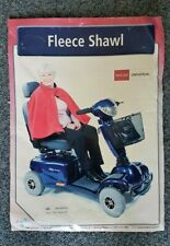 Simplantex Fleece Shawl Cape Scooter Wheelchair User Warmth Protection Navy Red