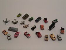 Lot of 22 Vintage Micro Machines Galoob 80s & 90's Military Planes, Race Cars,et