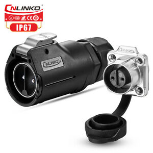 CNlinko M28 Plug+Socket 2 3 Pin Power Connector Waterproof IP67 Adapter 35A 50A